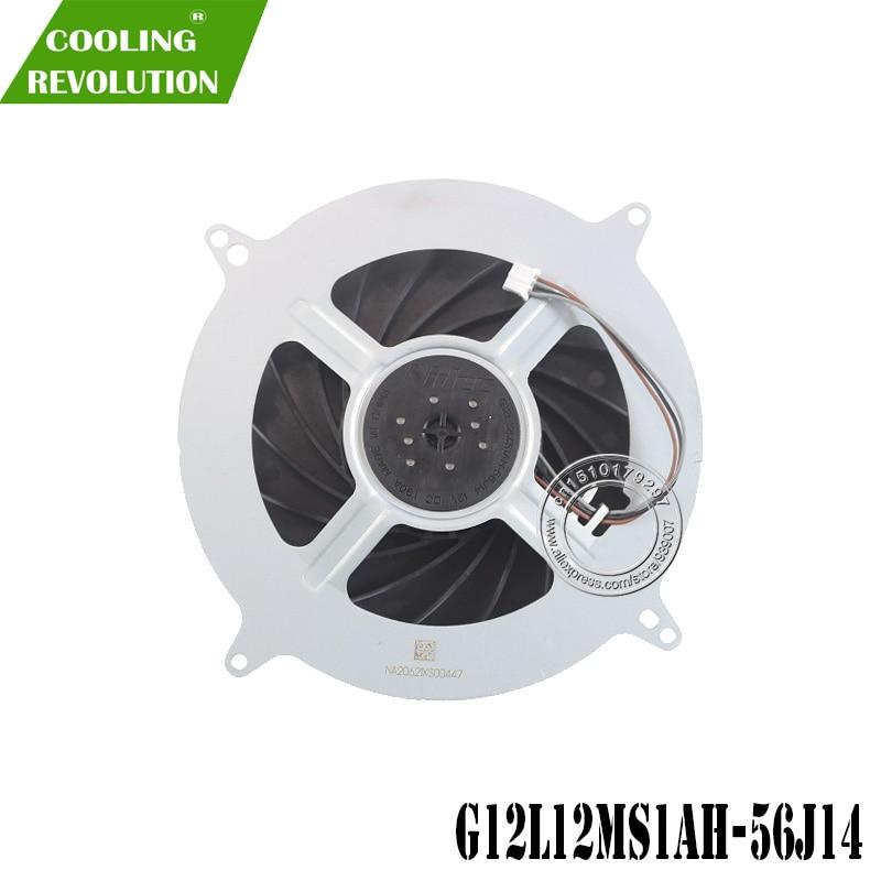 Вентилятор охлаждения внутренний вентилятор одностороннего действия вентилятор охлаждения для Sony Игровые приставки 5 PS5 G12L12MS1AH-56J14, работаю...