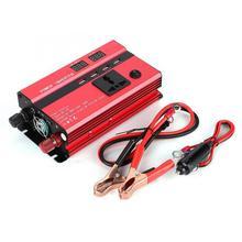 3000 Вт 12 В до 220 В автомобильный преобразователь мощности с ЖК-дисплеем USB порт прикуривателя порта коррекция волны красный металл