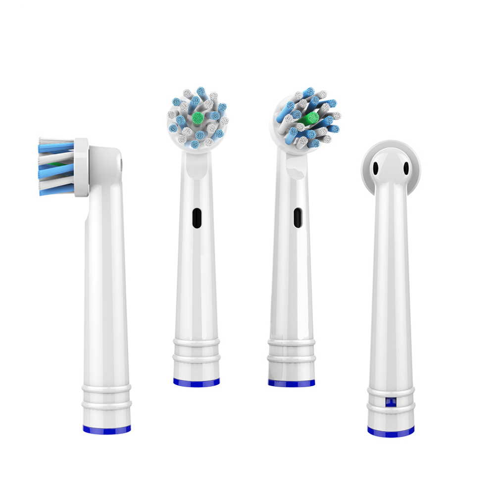 4x Replacement Brush Heads for Oral B Electric Toothbrush Bbefore Power/Pro Health/Triumph/3D Excel/Clean Precision Vitality