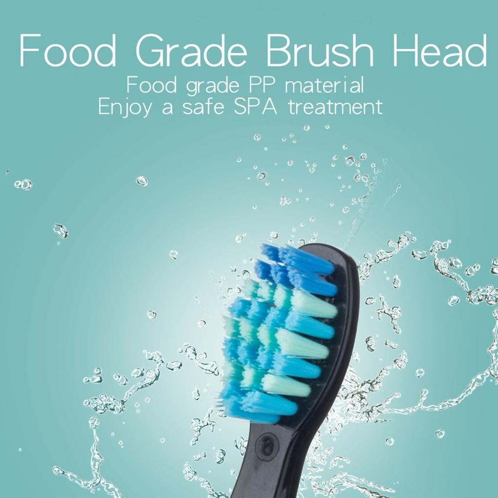 Seago-507 Electric Toothbrush 5 modes Adult Waterproof Deep Clean Teeth Brush With 2 Replacement Heads USB Rechargeable