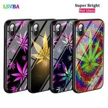 Black Cover Abstractionism Art weed for iPhone X XR XS Max for iPhone 8 7 6 6S Plus 5S 5 SE Super Bright Glossy Phone Case black cover lovely cat for iphone x xr xs max for iphone 8 7 6 6s plus 5s 5 se super bright glossy phone case