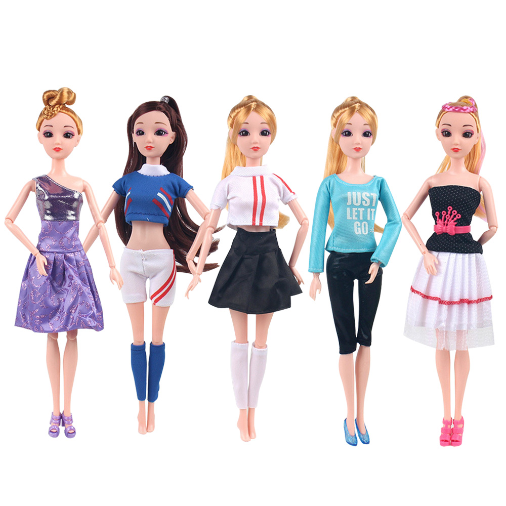 Besegad 5 Set Fashion Girl Doll Toy Dresses Outfit Clothes Costume Doll Accessories For Barbie 11.5 Inch Dolls