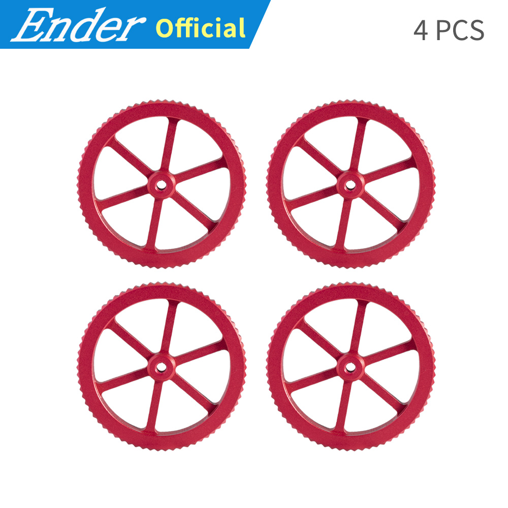 4Pcs/Lots 3D Printer Accessories New Large Red Hand Twist Leveling Nut For printer 3D