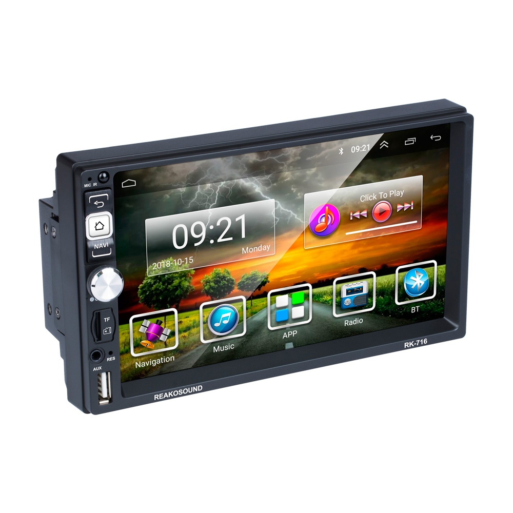 Factory 2 din intelligent universal <font><b>Car</b></font> Multimedia Player with Mirror link BT Radio GPS For Volkswagen Nissan Hyundai Kia image