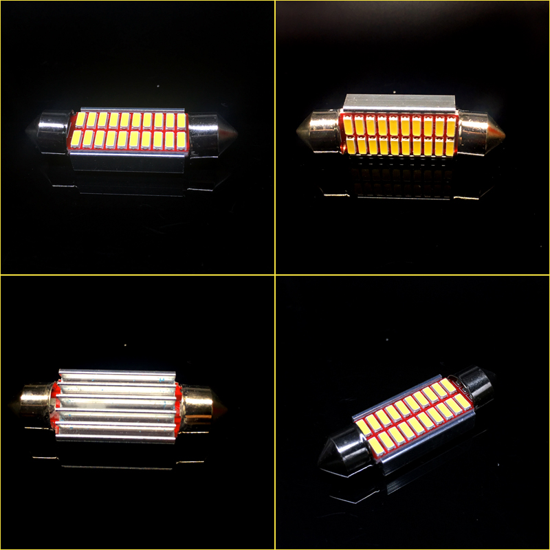 4x C10W C5W LED Festoon 31mm 36mm 39mm 41mm 12V canbus White bulbs for cars License plate Interior Reading Light white 12V in Signal Lamp from Automobiles Motorcycles