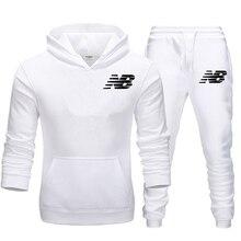 Спортивный костюм для мужчин, 2 комплекта, новая модная куртка, Мужская Спортивная Толстовка, весна и осень, Брендовые мужские толстовки, тренировочные штаны для бега