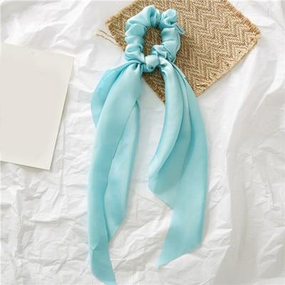 Модный летний шарф «конский хвост», эластичная лента для волос для женщин, бантики для волос, резинки для волос, резинки для волос с цветочным принтом, ленты для волос - Цвет: 0009
