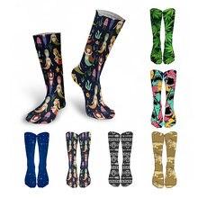 Новые женские длинные носки с 3d принтом креативные Забавные
