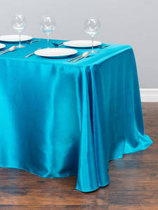 Table-Cloth Wedding-Party-Decorations Satin Rectangle White Home for Event