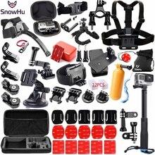SnowHu עבור Gopro אביזרי סט pro עבור גיבור 8 7 6 5 4 ערכת 3 דרך selfie מקל עבור eken h8r/לxiaomi עבור יי EVA מקרה GS98