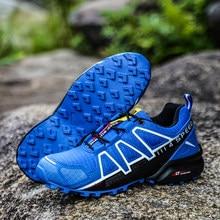 Novo cross-country antiderrapante homem caminhadas sapatos de desporto ao ar livre wearable sapatos plus size 47 sapatos de escalada tênis masculinos sapatos casuais
