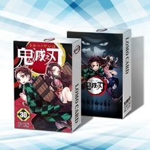 30 Stks/doos Anime Demon Slayer: Kimetsu Geen Yaiba Kamado Tanjirou Kaarten Cartoon Postkaart Artbook Props Lomo Kaart Gift Collection