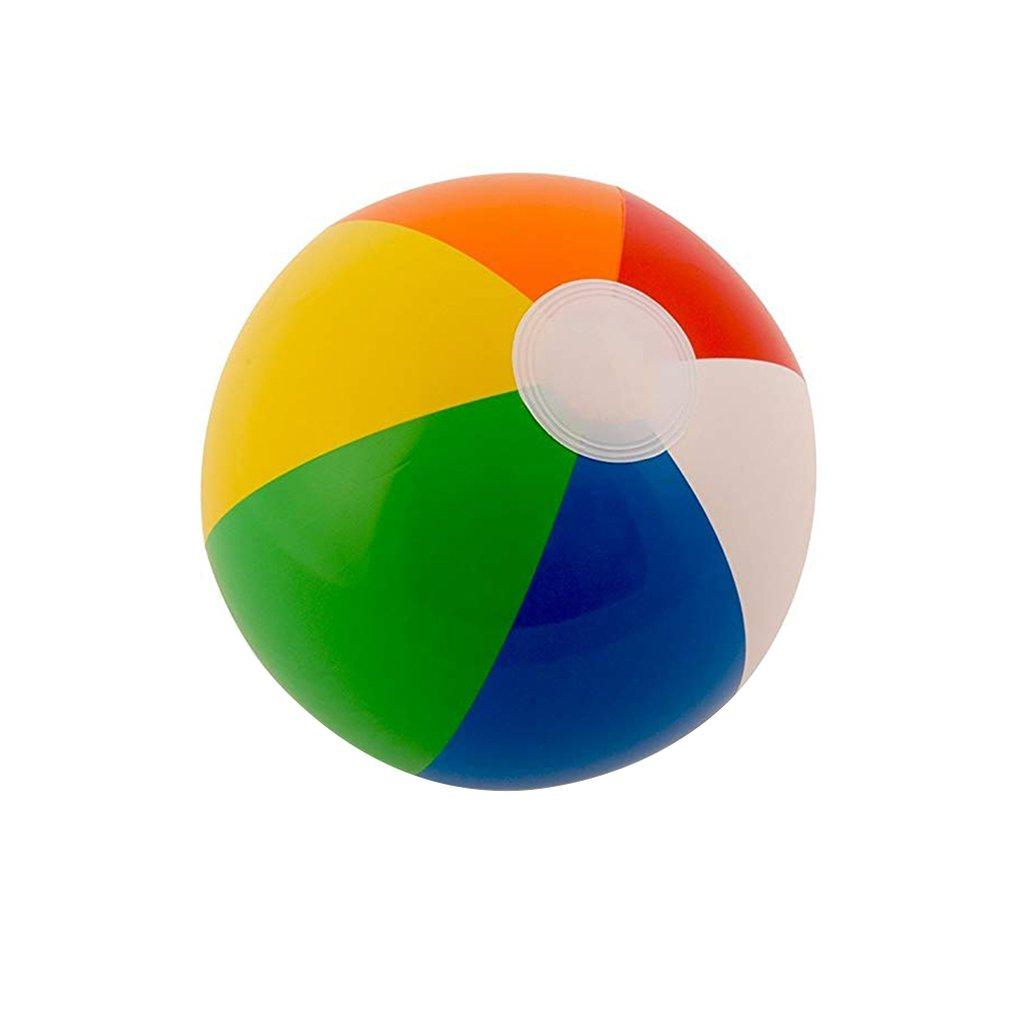 30Cm Color Inflatable Ball Children'S Play Water Polo 6 Color Beach Toy Ball Beach Ball Colorful