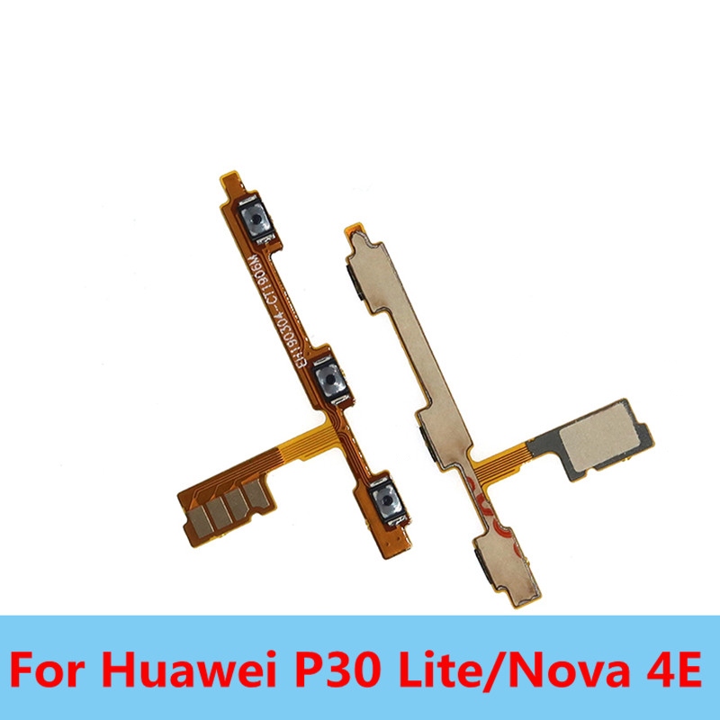 New 1PC For Huawei P30 Lite/Nova 4E Side Power ON OFF Volume Key Button Switch Replacement Repair Spare Parts Free Shipping
