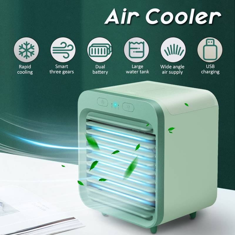 Details about Portable Mini Air Conditioner Humidifier Air Cooler USB 3 Speeds Cooling Fan 5V