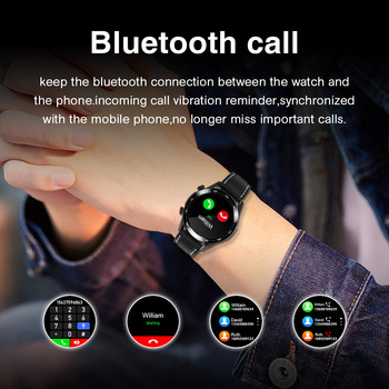 E1-2 Smart Watch Men Bluetooth Call Custom Dial Full Touch Screen Waterproof Smartwatch For Android IOS Sports Fitness Tracker 4