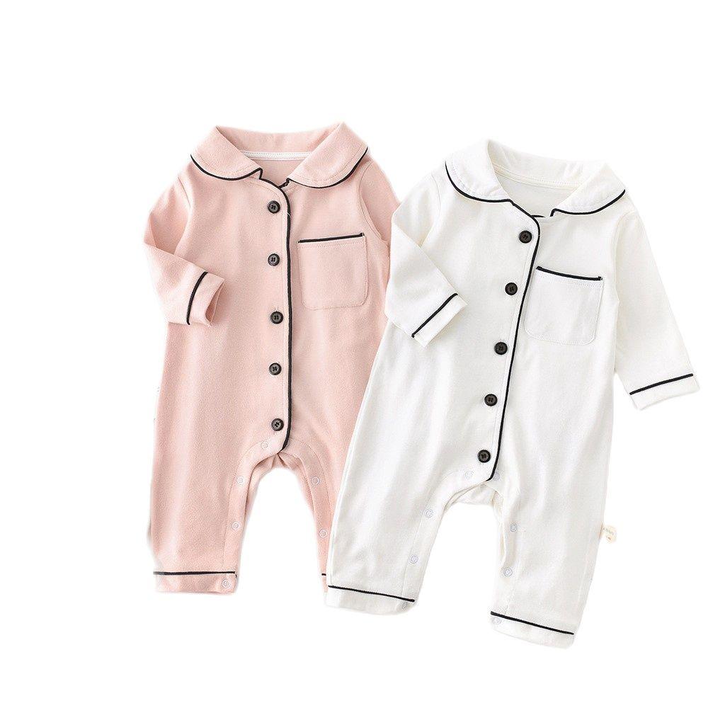 Korean Jumpsuit Newborn Infant Baby Boy Girl Long Sleeve Lovely Cute Romper Set Sleepwear Body Suit Playsuit Clothing Kids 0-24m