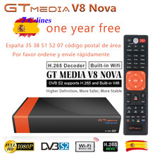 GTMEDIA V8 NOVA DVB-S2 Freesat Satellite TV Receiver FTA Decoder Support PowerVu BissKey + 1 year ccam V8 super Upgraded version(China)