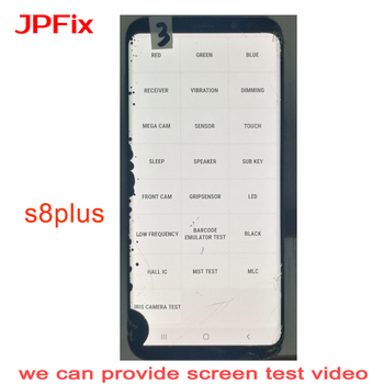 JPFix For Samsung S8+ Plus G955 LCD Practice Screen Broken Glass Touch Well With Frame S8 Super Amoled
