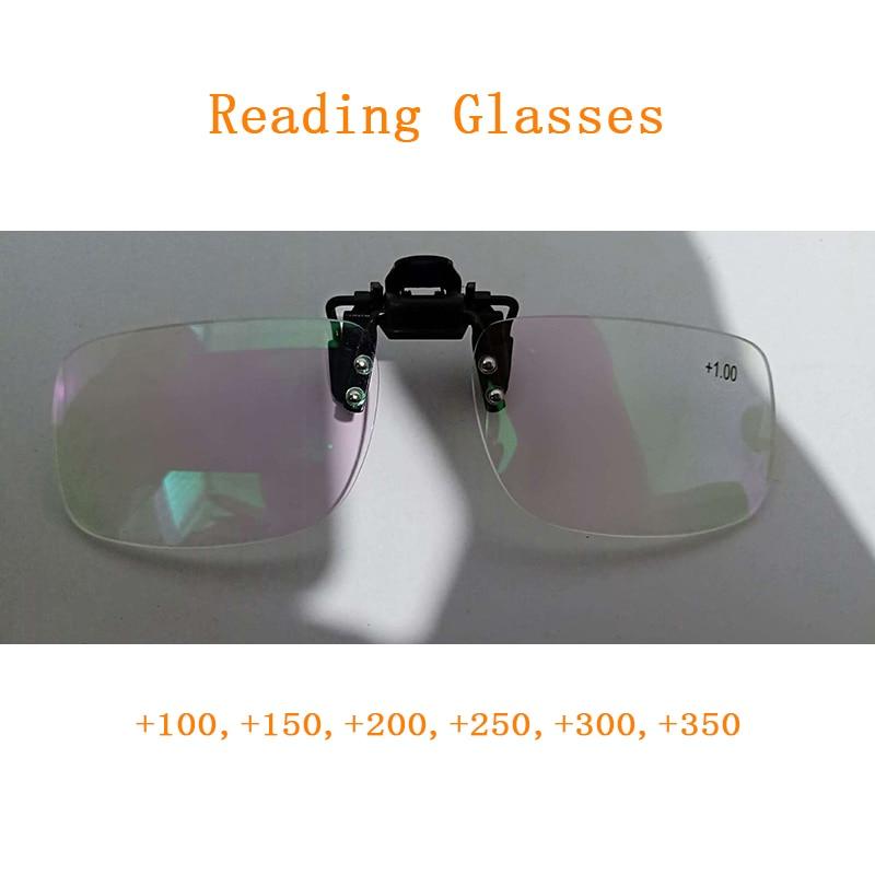 Зажим для очков для чтения, увеличительное стекло для мужчин и женщин, без оправы, для пресбиопии, зажимы для линз, подарок для пожилых мужчи...