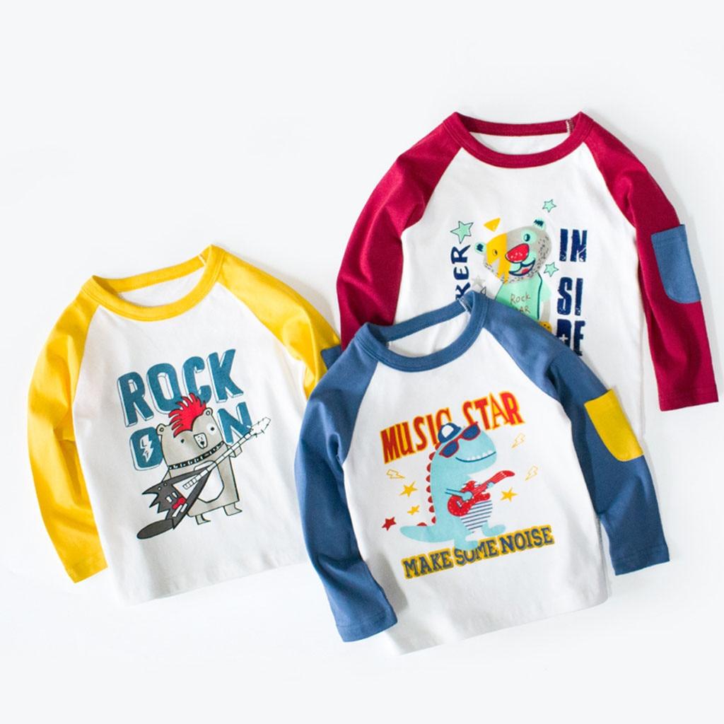 T-Shirt Toddler Girl Baby Cartoon Children Casual Boy Print Unisex Blouse Tops O-Neck