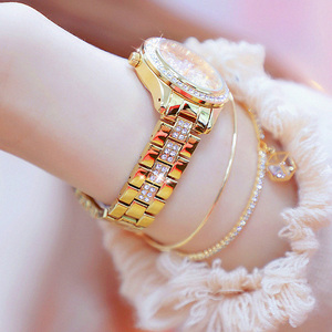Image 4 - 2020 New Fashion Ladies Wrist Watches Luxury Brand Diamond Women Bracelet Silver Watch Women Dress Quartz Clock Relogio Feminino