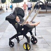 Корзина для сна для новорожденных 4 в 1, коляска из алюминиевого сплава для новорожденных, складная переносная коляска для бега с автокреслом