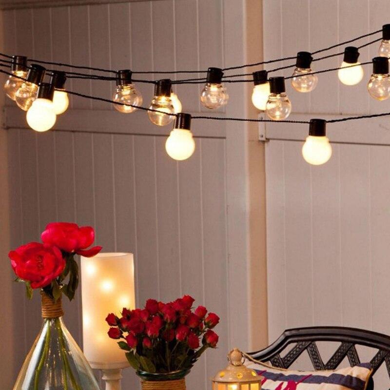 6m 20 Led Wedding String Fairy Light Christmas LED Globe Festoon Bulb Led Fairy String Light Outdoor Party Garden Garland