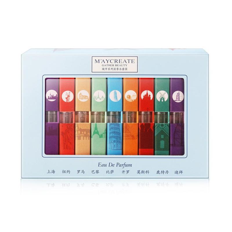 VIBRANT GLAMOUR 9pcs Women Perfume Mini Different Fragrance Deodorant Aromatic Summer Perfumes Set For Birthday/Festival