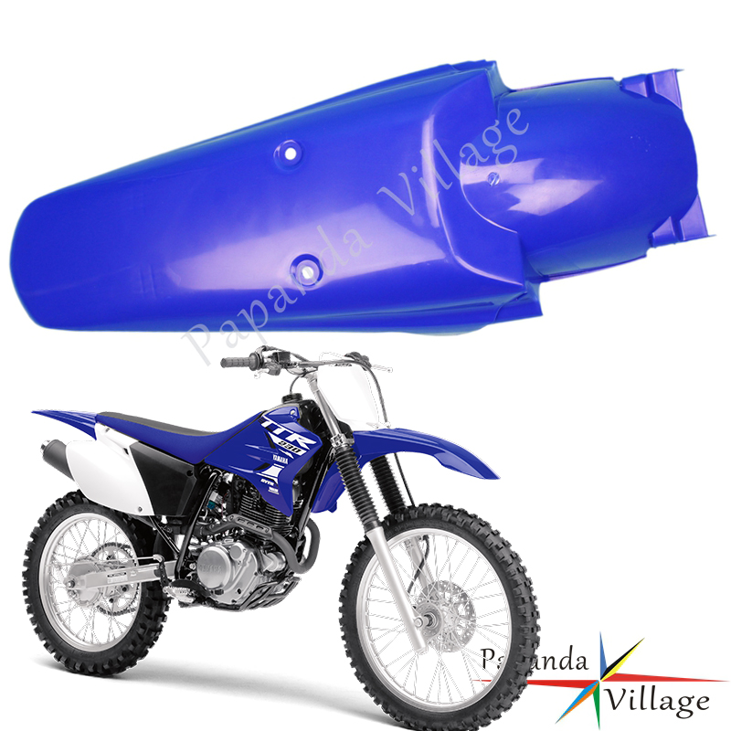 Blue Plastic Rear Fender Motocross Off Road Tail Mudguards Protector Universal for <font><b>YAMAHA</b></font> YZ YZF WR <font><b>TTR</b></font> 50 85 110 <font><b>125</b></font> 250 450 image