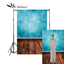 Beebuzz photo backdrop light blue wood floor background professional studio and family photography