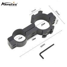 AloneFire 1 шт. 25X30 тактический 30 мм фонарик держатель зажим для 25 мм ружья принадлежности для охоты Пикатинни, с расширением Weaver