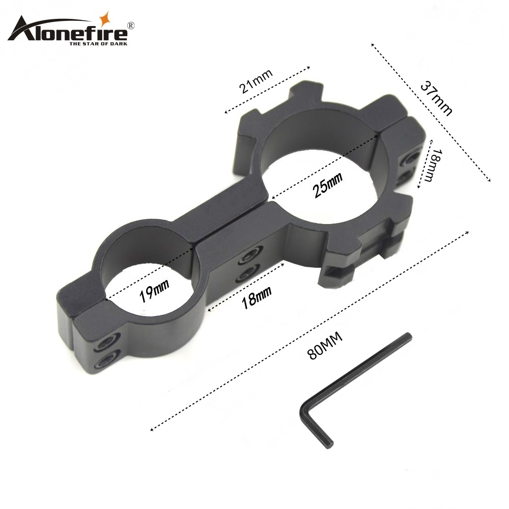 AloneFire 1PC 25X30 Tactical 30mm Flashlight Mount Holder Clip Clamp For 25mm Gun Hunting Accessories Extension Picatinny Weaver