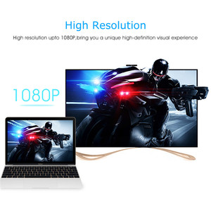 Image 4 - HANNORD HDMI zu VGA Adapter hdmi vga Konverter Adapter 1080P HD Männlich zu Weiblich Adapter Video Audio Für PC laptop Tablet TV Box
