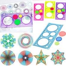 1pc régua geométrica para estudantes papelaria matemática desenho ferramenta aprendizagem kit de pintura crianças quebra-cabeça brinquedos spirograph arte