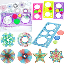 1pc Geometric Ruler for Students Stationery Mathematics Drawing Tool Learning Painting Kit Children Puzzle Toys Spirograph Art