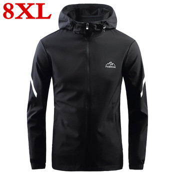 2020 new plus size  8XL 7XL  Spring and summer Jacket Men Clothes  Slim Fit High-Quality Casual Mens Jackets And Coats