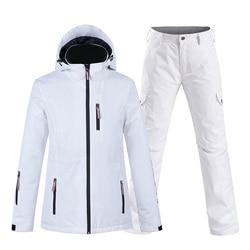 Nieuwe Pure Kleur Wit Womens Sneeuw Pak Dragen Snowboard Kleding Set 10 K Waterdicht Winddicht Winter Kostuum Ski Jas + sneeuw Broek