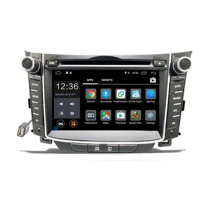 Автомагнитола на Android с GPS-Навигатором, DVD-плеер, 2 din, для Hyundai I30, сенсорный экран, мультимедийный плеер 2012 - 2016
