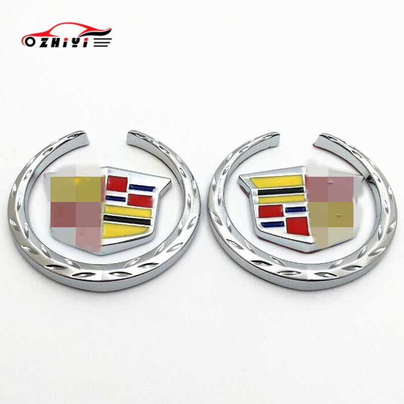 Car Stickers Are Suitable For Cadillac Modified Appearance Metal Label, SRX Graphic Car Decoration Side Label ATS CTS XTS C.