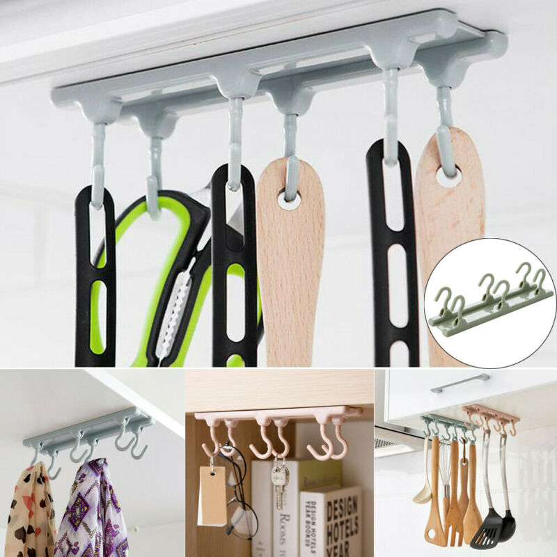 Kitchen cabinet storage shelf closet shelf hanging hook organizer glass clothes cup shelf hanging cupboard stand