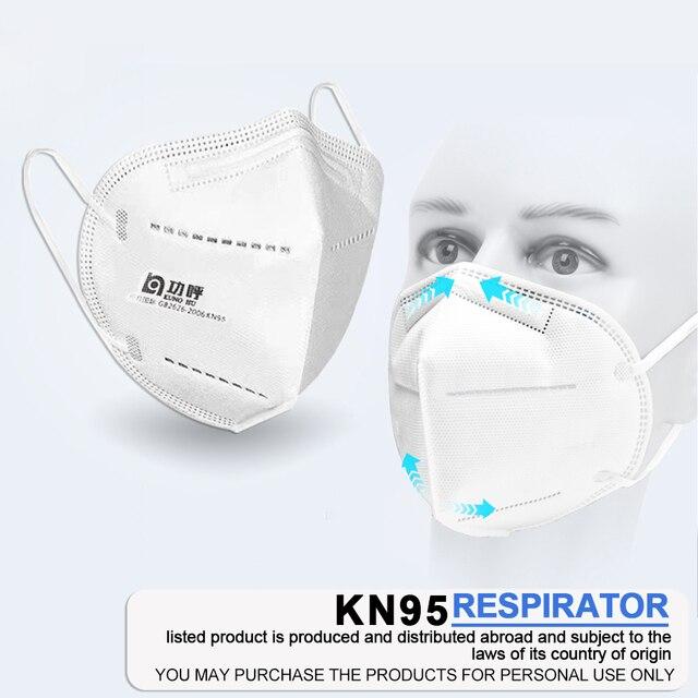 10 pcs KN95 FFP3 Hygien Face Masks Protective N95 Mouth Cover Mask Filter PM2.5 Flu Health Disposable Laye Mask masque ff  k95 2