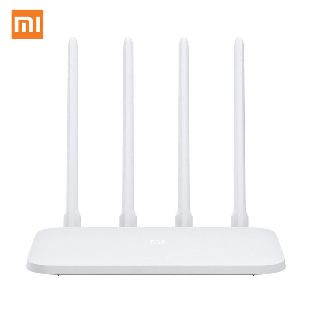 Original Xiao mi mi Router WI-FI Roteador 4C APP Controle 64 RAM 802.11 b/g/n 2.4G 300Mbps Antenas 4 Roteadores Sem Fio Repetidor