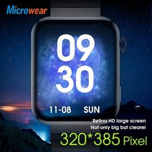 Image 3 - Microwear M1 Đồng Hồ Thông Minh Thể Thao Theo Dõi Nhắc Cuộc Gọi Điện Tâm Đồ Nhiệt Độ Nhịp Tim Cuộc Gọi Bluetooth Âm Nhạc IP68 Chống Thấm Nước Đồng Hồ Thông Minh Smartwatch