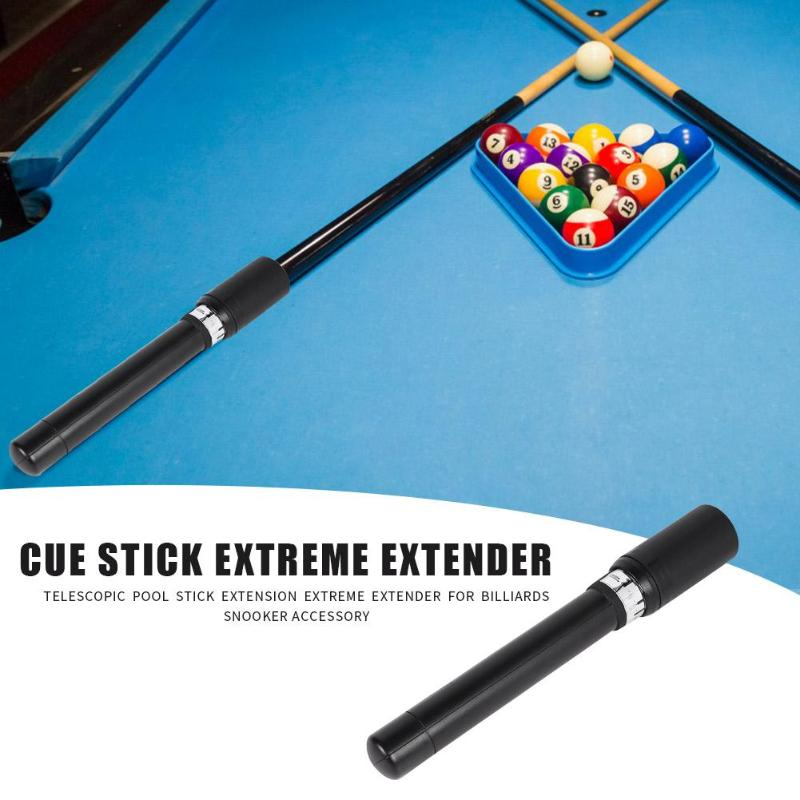 Extreme EXCE Cue Extender Black Extends Up To 17.5 Slips On Your Cue