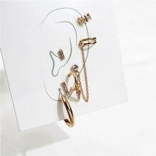 Fashion 6PCS/SET Mixed Ear Post Cuff Clip On Earrings
