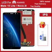 5 9 #8222 wyświetlacz IPS LCD do Huawei Mate 10 Lite wymiana ekranu dotykowego Digitizer zgromadzenia z ramą dla Nova 2i RNE-L21 tanie tanio CN (pochodzenie) Pojemnościowy ekran 2160*1080 3 5 For Huawei Mate 10 Lite Nova 2i LCD LCD i ekran dotykowy Digitizer