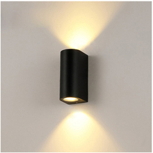 Outdoor Cylinder Wall Sconce Light 5W, 2x5W, Waterproof Up Down Exterior Light Fixtures Aluminum Sconce for Porch & Patio