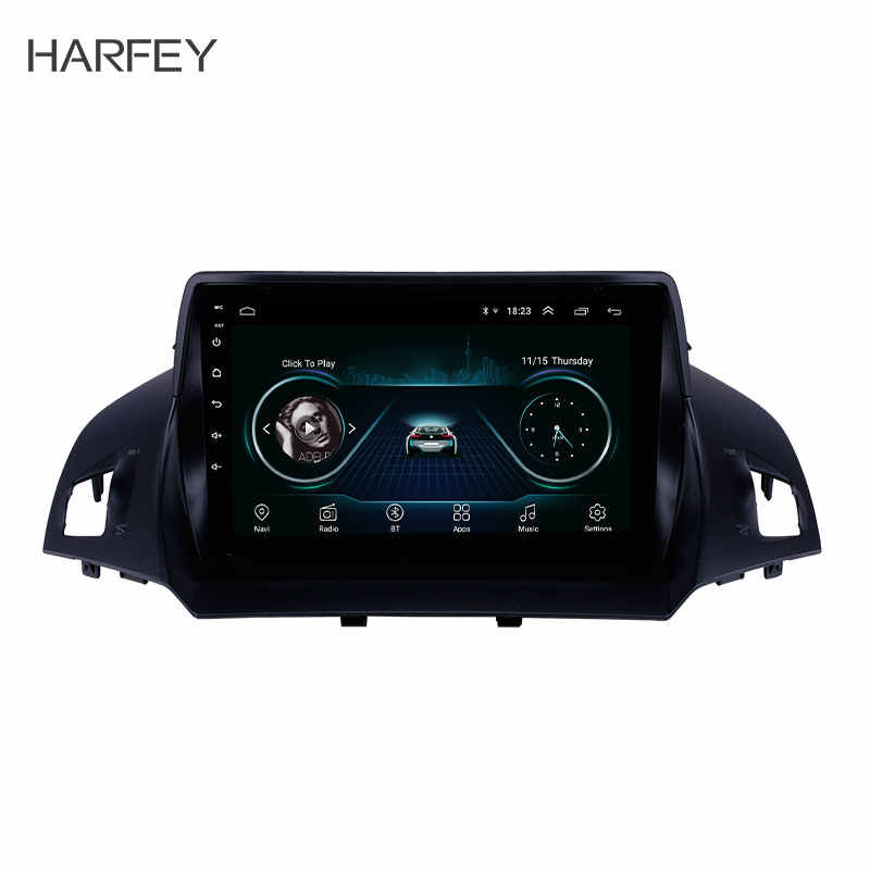 Harfey Android 8.1 9 inch Auto GPS Car Radio for 2013 2014 2015 2016 Ford Escape with WIFI AUX support Backup Camera Carplay SWC