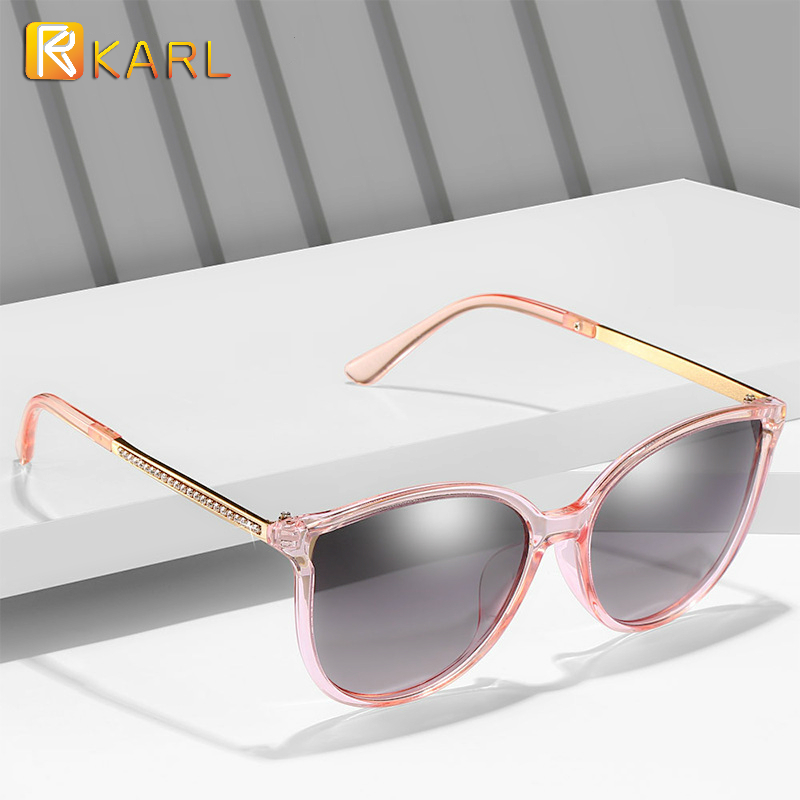 2020new Polarized Sunglasses Women Luxury Brand Gradient Sun Glasses Pink Cat Eye Driving Eyewear Ladies Shades UV400 Vintage